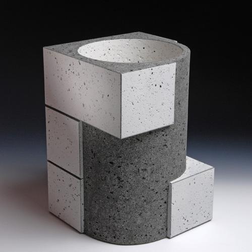 Black&White - Wim Borst- 649 Rectangular Series 30, 2009, 23x23xh33.5 cm 006